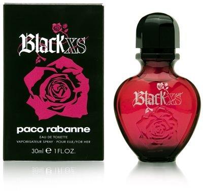 Paco Rabanne Black XS for her femme woman, Eau de Toilette, Vaporisateur Spray 30 ml, 1er Pack (1 x 30 ml)