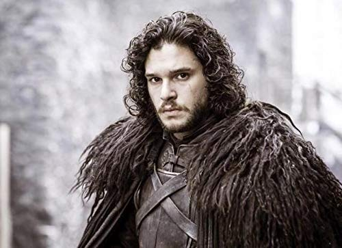 Jon Snow Wig Men's Cosplay Wigs for Game of Thrones Short Black Curly Wigs for Costume Party Halloween 70s Wigs for Men DX029BK ()