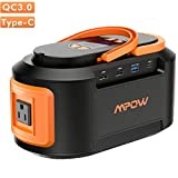 OMORC Mpow 222Wh 60000mAh Portable Power Stations, 167Wh / 222Wh Solar Generator Lithium Battery Backup Power Supply for CPAP Camping Fishing