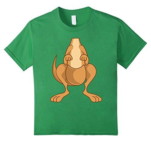 Kangaroo Costume Toddler (Kids Funny Kangaroo Costume Shirt - Hilarious Halloween Tee Gift 4 Grass)