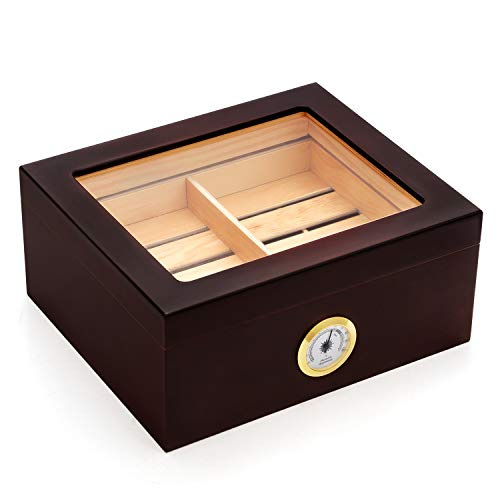 Kendal 25-50 Cigar Desktop Humidor Mahogany Finish