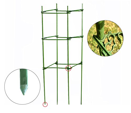 Mr.Garden,Tomato Cages,Plant Cage, Sturdy And Durable,4-Feet High,2 Pack,Square,Heavy Duty by Mr Garden