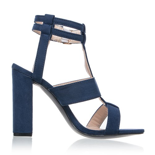 JUWOJIA Correa De Hebilla De Tobillo Verano Sandalias Mujer Tacones Altos DE 10 Cm De Zapatos De Mujer Marina