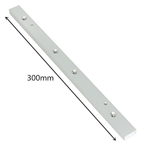 11.81in Aluminum Alloy Rail Miter Bar Slider Table Saw Gauge Rod Wood Working Tool