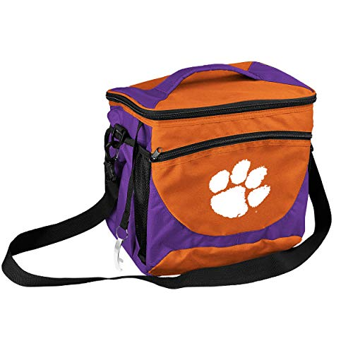 NCAA Clemson Tigers 24-Can Cooler with Bottle Opener and Front Dry Storage Pocket