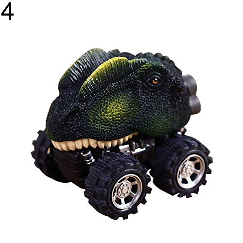 xxiaoTHAWxe Children's Day Gift Creative Simulation Dinosaur Model Pull Back Mini Toy Car - 4#