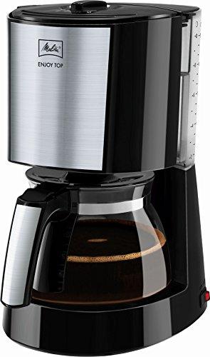 Melitta, Filterkaffeemaschine, Patentierter Aromaselector, Automatische Endabschaltung, Edelstahl/Schwarz, ENJOY Top, 214471