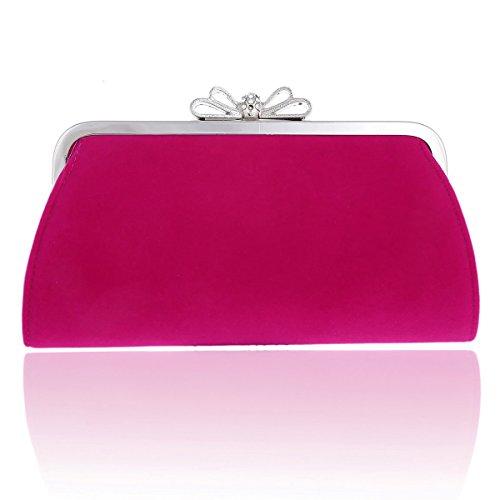 Bow Bags Velvet Elegant Evening Top Damara Rose Womens 7YwcI