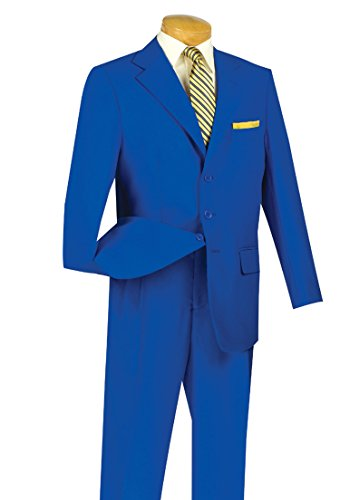 Fortino Landi Men's 3 Button Single Breasted Dress Suit 8022-Royal-52R ()