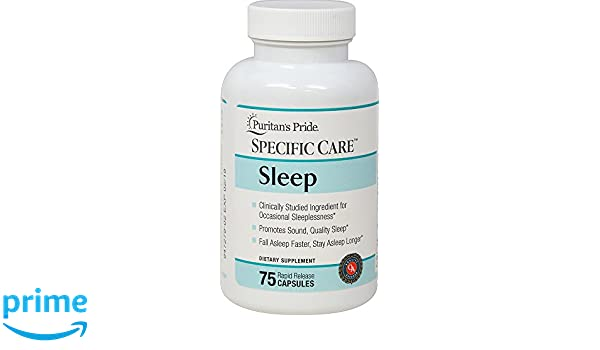 Amazon.com: Puritans Pride Specific Care Specific Care Sleep-75 Capsules: Health & Personal Care