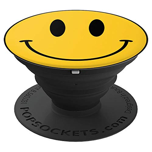Smiley Face - Very First Emoji Yellow 70s Retro Graphic - PopSockets Grip and Stand for Phones and - Pop Face