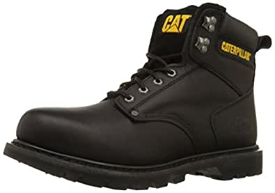 "Caterpillar Men's 2nd Shift 6"" Plain Soft Toe Boot,Black,5 W US"