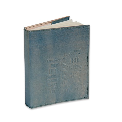 Sitara Collections SC9078 Refillable Embossed Leather Journal with Handmade Paper, 6 x 8-Inch, Powder Blue