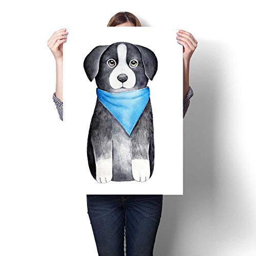 Anshesix Wall Paintings Border Collie Puppy Character Sketchy Drawing One of Most Intelligent Domestic Dog Breeds Modern Wall Art for Living Room Decoration 32