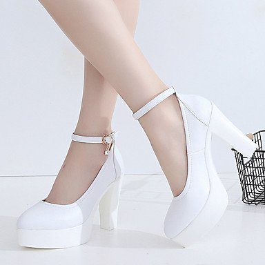 Talons microfibre Femme Soirée LvYuan Décontracté de ggx Chaussures Printemps AutomneMariage amp; synthétique Habillé white à Chaussures formelles PU zSqHBIZq