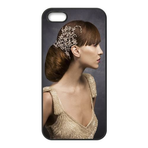 Beautiful Girl4 coque iPhone 4 4S cellulaire cas coque de téléphone cas téléphone cellulaire noir couvercle EEEXLKNBC23461