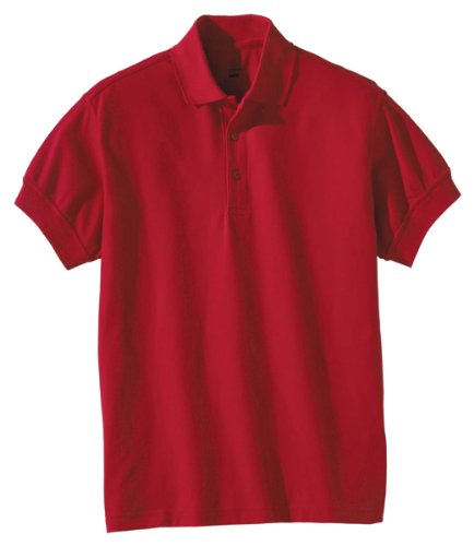 Edwards Garment Men's Big and Tall Soft Pique Polo Shirt, RED, XXXX-Large - Fitted Edward T-shirt