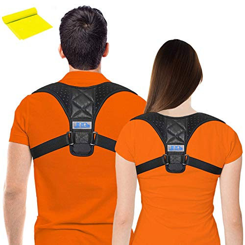 JINRQ Posture Corrector for Women Men - Effective and Comfortable Posture Brace Support, Perfect for Spinal, Neck, Shoulder & Upper Back Pain Relief