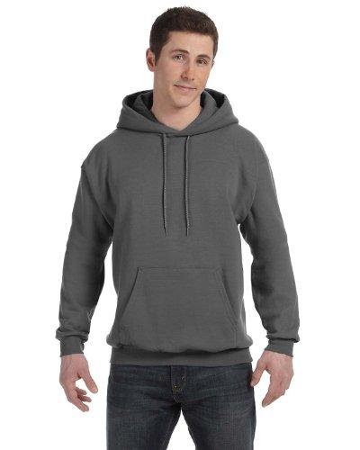 Adult Comfortblend Hooded Pullover - Hanes 7.8 oz. ComfortBlend EcoSmart 50/50 Pullover Hood, 2XL, SMOKE GRAY
