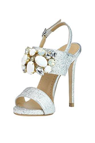 MARC ELLIS Women's MCGLCAT03191E Silver Leather Sandals 4CqDeiu