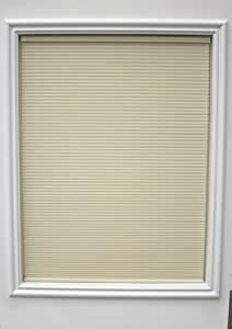 New Age Bottom Up Cordless 3/8-Inch Light Filtering Single Cellular Shade, 28.75 by 48-Inch, Ivory