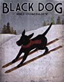 Black Labrador Dog Ski By Ryan Fowler Art Poster PRINT Ryan Vintage Dog advertisement Sign