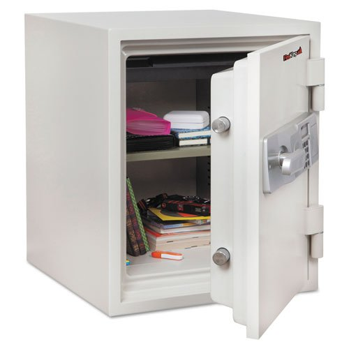 - FireKing - Two Hour Fire and Water Safe, 1.48 ft3, 18-1/5 x 18-1/3 x 21-3/4, White KF1612-2WHE (DMi EA