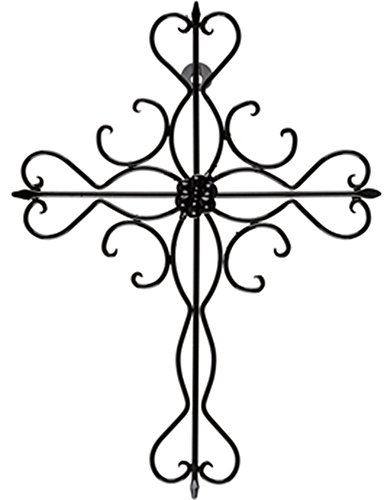 elegant-brushed-metal-ornate-cross-home-wall-decor-14-x-11-gunmetal-gray