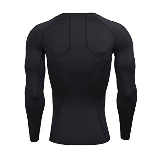 国旗先生ヘルシーZhhlaixing スポーツ コンプレッション トップス メンズ 長袖 Gym Sports Training Under Shirt Workout Compression Body Fit Base Layer Top