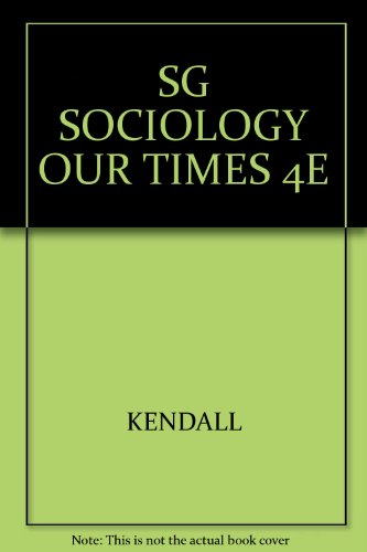 Study Guide for Kendall's Sociology in Our Times (with CD-ROM), 4th