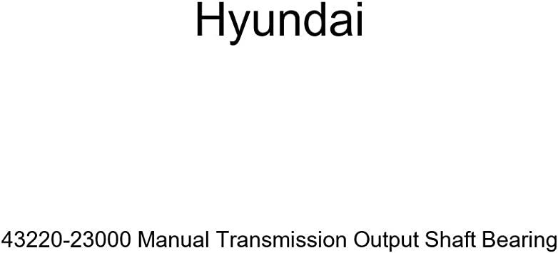 Genuine Hyundai 43220-23000 Manual Transmission Output Shaft Bearing