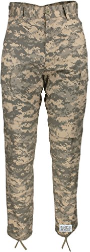 Army Universe Mens ACU Digital Camouflage Poly/Cotton Military BDU Army Fatigues Cargo Pants With Official Pin (W 31-35 - I 29.5-32.5 - Medium reg)