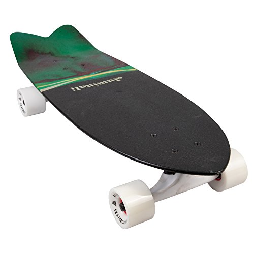 Aluminati Skateboards Recycled Aluminum Cruiser/Commuter Board -REZ Cruiser Skateboard – Wingnut Deck 25″ x 8″