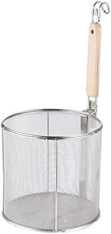 VANKOA Nudelsieb Mit Haken Edelstahl Frittierkorb Lebensmittel Sieb Sieb - 12 cm