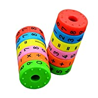 Acoolstore Math Toys Baby Learn Educational Montessori Stick Magnetic Cylinder Puzzle Education Number Toys Calculate Game Learn Counting