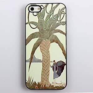 BuW Modern Girl Under The Tree Pattern Aluminum Hard Case for iPhone 4/4S , iphone 4, iphone 4s cases, iphone 4 cases, iphone cases