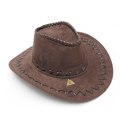 IDS Home Dark Brown Western Cowboy Cowgirl Cattleman Hat for Party Costume