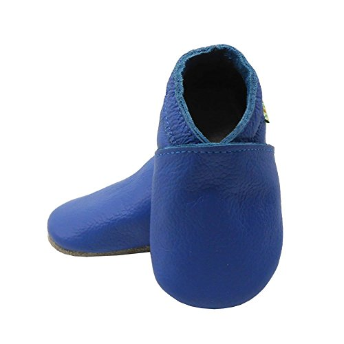 Sayoyo Lowest Best Baby Soft Sole Prewalkers Skid-resistant Baby Toddler Shoes Cowhide Shoes (12-18 months, Dark blue)