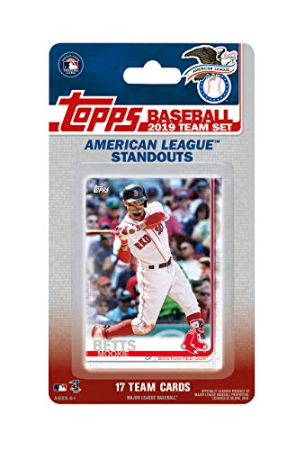 2019 Topps American League All Star Standouts Factory Sealed Limited Edition 17 Card Team Set with Mike Trout, Aaron Judge, Justin Verlander and Mookie Betts Plus