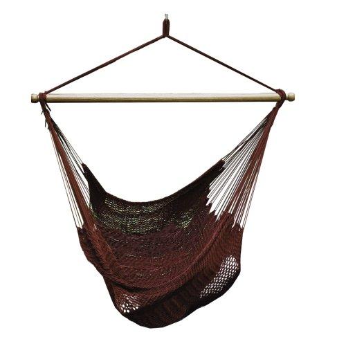 Algoma Chair (ALGOMA 4913B Hanging Polyester Rope Chair, Burgundy)