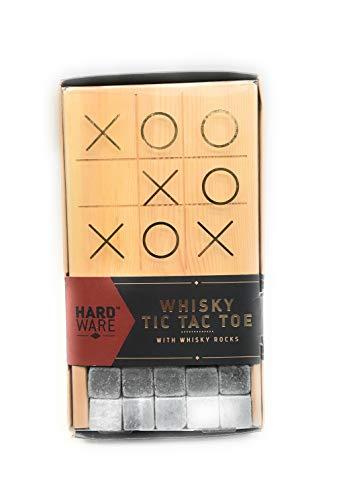 (Hardware Whiskey Tic Tac Toe with Whiskey Rocks Gift Set)