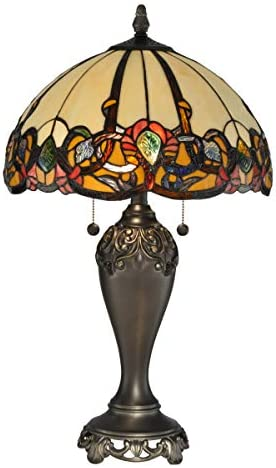 Dale Tiffany Lamps TT90235 Northlake Table Lamp, Antique Golden Bronze
