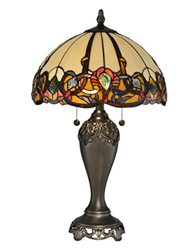 Dale Tiffany TT90235 Northlake Table Lamp, Bronze
