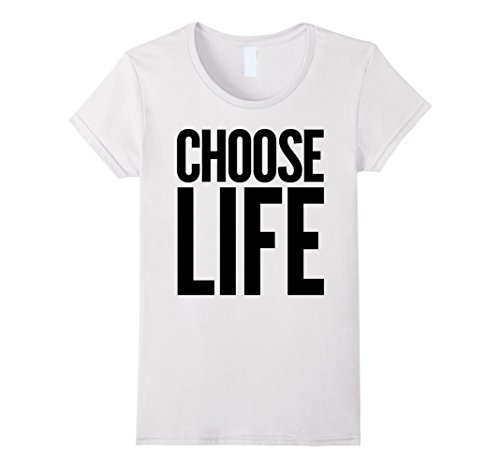 Womens Choose Life Wham! 80s Slogan T-shirt -