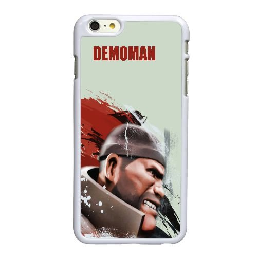 Forteresse M7T28 Demoman équipe E5J8UB coque iPhone 6 Plus de 5,5 pouces cas de couverture de téléphone portable coque blanche WU3TXE7DB