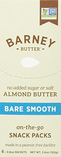 Barney Butter, Bare Almond Butter, Smooth, 6 Packets, 0.6 oz (17 g) (DOUBLE PACK)