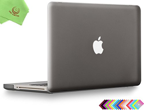 "UESWILL Smooth Soft-Touch Matte Frosted Hard Shell Case Cover for MacBook Pro 13"" with CD-ROM (Non-Retina)(Model:A1278)+ Microfibre Cleaning Cloth, Gray"