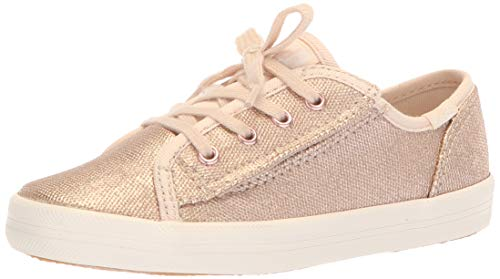 Keds Girls' Kickstart Core Jr Sneaker, Brushed Metallic, 6 Medium US Toddler (Girls Shoes Keds Infant)