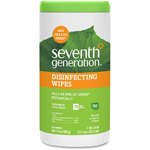 Seventh Generation Disinfecting Multi-Surface Wipes, 70-count Tubs, 2-Pack