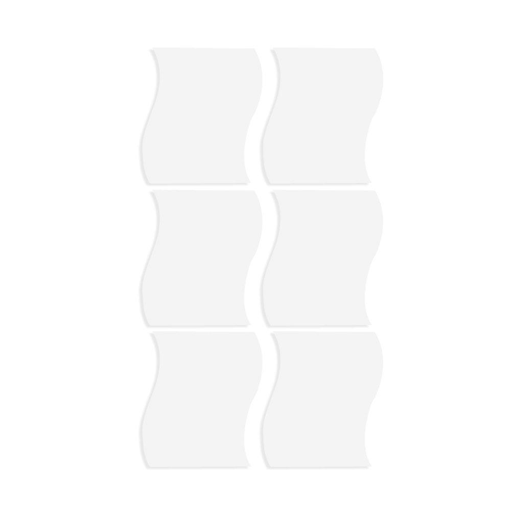 WINOMO 6pcs - tamaño S (etiqueta engomada de la pared extraíble etiqueta engomada de la pared 3D etiqueta engomada de DIY decoración)